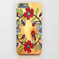 """iPhone & iPod Case featuring """"Quilt Block"""" by Holly Lynn Clark"""