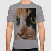 Thinking Cat Mens Fitted Tee Athletic Grey SMALL