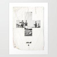 cross Art Prints featuring Cross by Anna Pietrzak