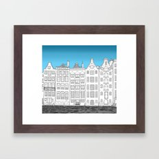 Dancing houses, Amsterdam Framed Art Print