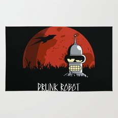Drunk Robot Rug