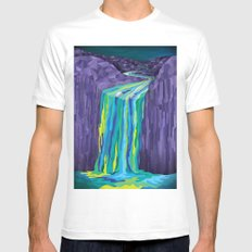 The Great Waterfall Mens Fitted Tee White SMALL