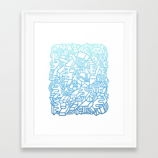 Wave Machine Framed Art Print