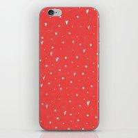 Coral Hearts iPhone & iPod Skin