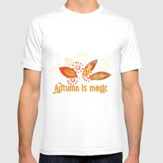 Autumn is magic Mens Fitted Tee White SMALL