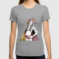 Unconscious Collective Womens Fitted Tee Tri-Grey SMALL
