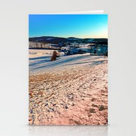Smooth Hills In Winter W… Stationery Cards