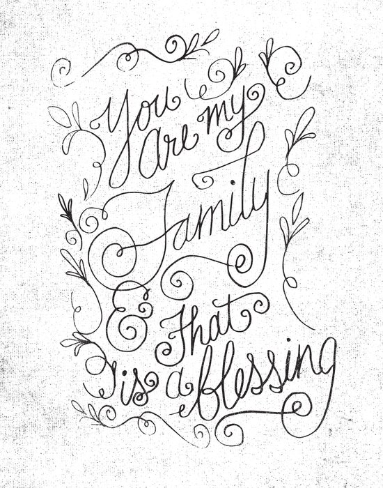 FAMILY BLESSING Canvas Print