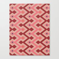 Kilim In Pink Canvas Print