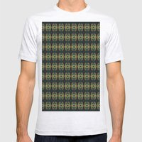 Peacock Bead Abstract Mens Fitted Tee Ash Grey SMALL