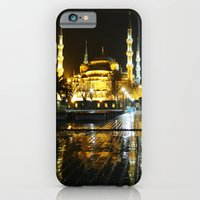 iPhone & iPod Case featuring Istanbul night (Turkey 2013) by Mendelsign