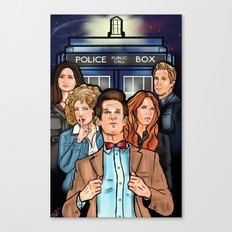 My Doctor and His Posse Canvas Print