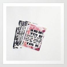 RETRO 5 Art Print