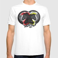 Horse War Mens Fitted Tee White SMALL
