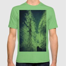 Heavenly spring sky in an industrial world Mens Fitted Tee Grass SMALL
