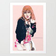 Oliva Wilde Art Print