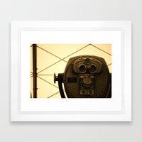 Look Framed Art Print