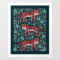 Art Print featuring Safari Tiger By Andrea L… by Andrea Lauren Design