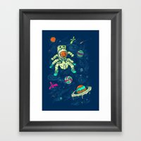 Antronaut And The Sugar … Framed Art Print