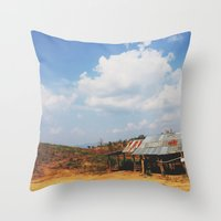 Deserted Zincs Throw Pillow