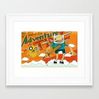 Urbnpop Greetings from Adventure Time Framed Art Print