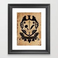 Steampunk Crest Framed Art Print