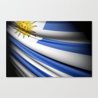 Flag Of Uruguay Canvas Print