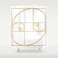 Golden Oval Shower Curtain