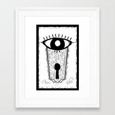 All-Seeing Framed Art Print