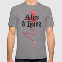 Famous Climbs: Alpe d'Huez 2, Old World Mens Fitted Tee Tri-Grey SMALL