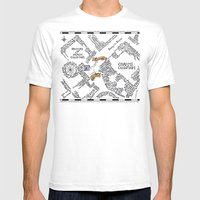 Evening Visit Mens Fitted Tee White SMALL
