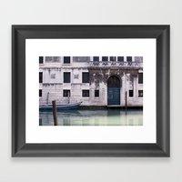 Venice Canal Framed Art Print