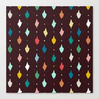choc multi llama diamonds Canvas Print