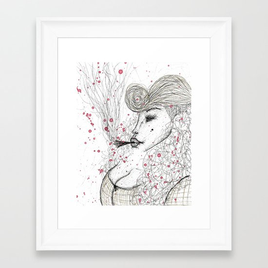 Big Mama Pink Framed Art Print