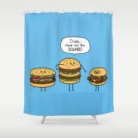 Burger Bullies Shower Curtain