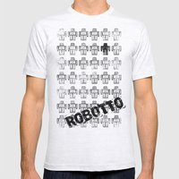 Robotto! Mens Fitted Tee Ash Grey SMALL