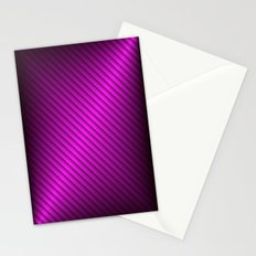 Purple Oblique Stripes Stationery Cards