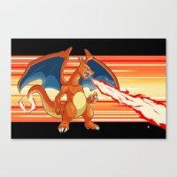 Fire Pocket Monster #006 Canvas Print