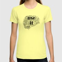 USE IT Womens Fitted Tee Lemon SMALL