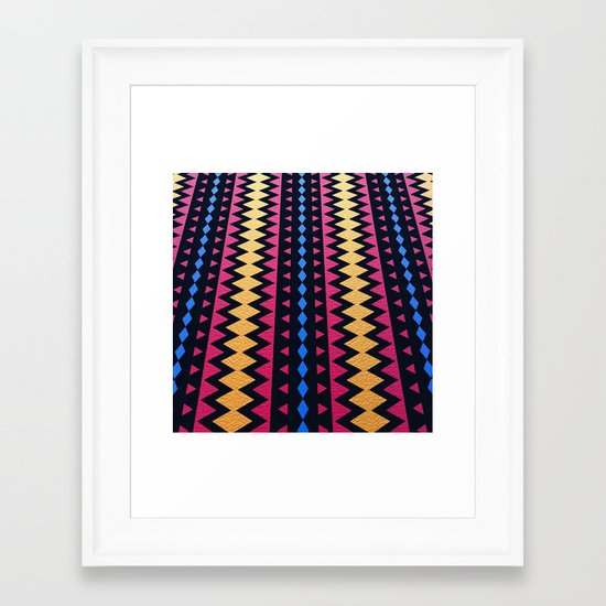 Aztec Pattern with Textured Appearance Framed Art Print