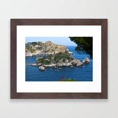 Isola Bella Bay Of Taorm… Framed Art Print