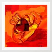 The Claddagh Ring  Art Print