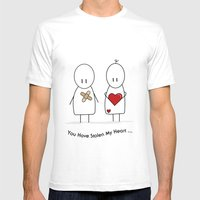 You Have Stolen My Heart Mens Fitted Tee White SMALL