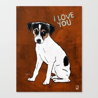 Dog: Rat Terrier Canvas Print