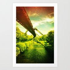 Green W. Art Print