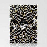 Ab Half Gold Stationery Cards
