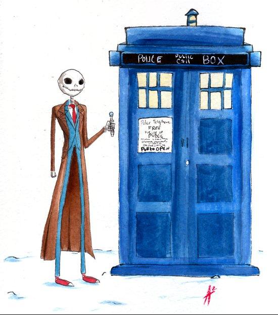 Doctor Wholington, Pumpkin Time Lord King! Art Print