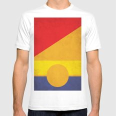 Tobias No.1 Mens Fitted Tee White SMALL