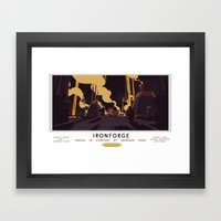 Ironforge Classic Rail Poster Framed Art Print