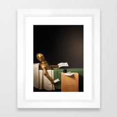 The Death of Robat Framed Art Print